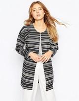 Ichi Striped 3/4 Sleeve Jacket