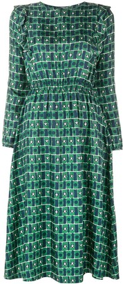 Chinti and Parker Geometric Flared Midi Dress