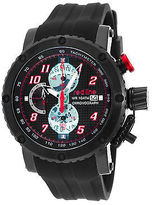 Redline Red Line 308C-BB-01-RA Men's GTO Chronograph Black Silicone and Dial Black IP
