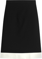 Paule Ka Crepe Skirt with Contrast Hem