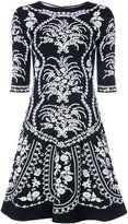 Oscar de la Renta floral embroidered mini dress