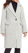 Anne Klein Wool Single Breasted One-Button Walker Coat
