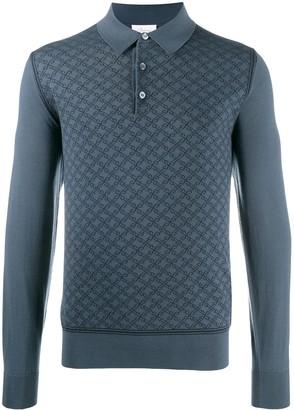 Brioni Long Sleeve Polo Sweater