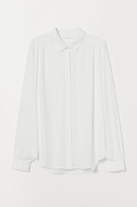 H&M Long-sleeved Blouse - White