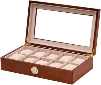Bey-Berk Brown Wood 10 Watch Case