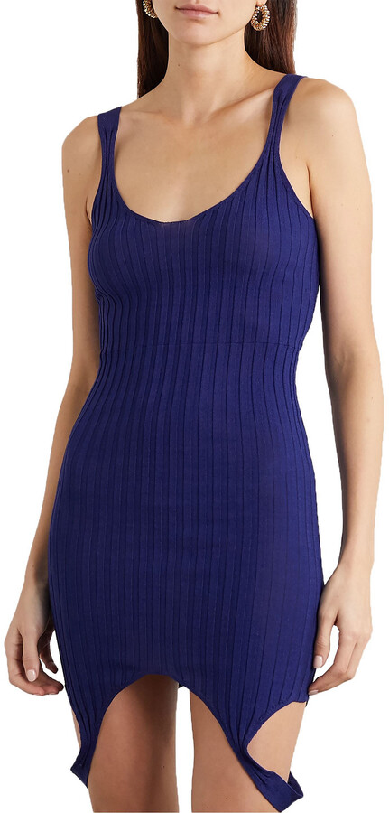 Thumbnail for your product : IOANNES Ribbed-knit Mini Dress