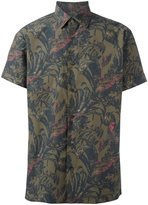 Salvatore Ferragamo printed short sleeve shirt - men - Cotton - XS