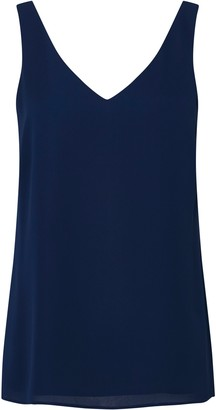 Wallis Navy V-Neck Camisole Top