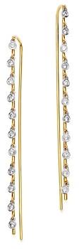 Meira T 14K Yellow Gold & 14K White Gold Bezel-Set Diamond Dangle Thread Through Earrings
