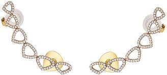 MARINA B 18kt yellow gold Trina diamond climber earrings