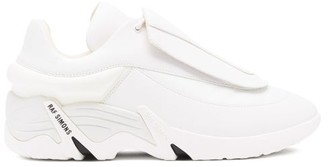 Raf Simons Antei Exaggerated-sole Leather Trainers - White
