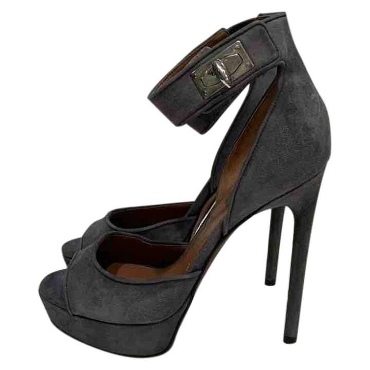 Givenchy Grey Suede Sandals