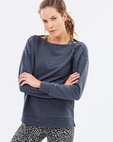Running Bare Exhale Boat Neck Pullover