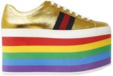 Gucci 110mm Peggy Metallic Leather Sneakers