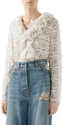 Gucci Floral Lace Top