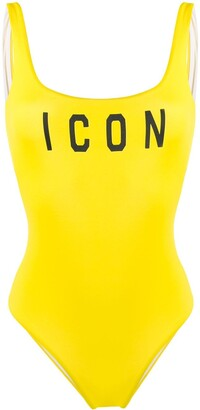 DSQUARED2 Icon print swimsuit
