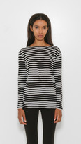 R 13 Striped Boat Neck