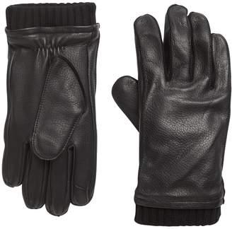 Banana Republic Leather Knit-Cuff Glove