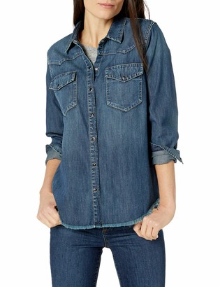 Goodthreads Amazon Brand Women's Denim Western Shirt