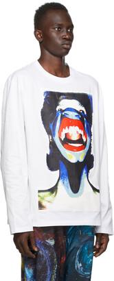 Charles Jeffrey Loverboy White Scream Long Sleeve T-Shirt
