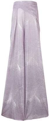 Talbot Runhof Metallic Long Dress