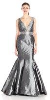 Jovani Women's Gunmetal Grey Mermaid Prom Dress
