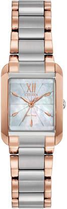 Citizen Eco-Drive Women Bianca Two-Tone Stainless Steel Bracelet Watch 22mm