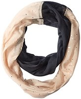 Betsey Johnson Women's Color-Block Foil Crinkle Infinity Scarf