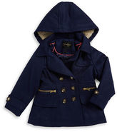 Jessica Simpson Girls 2-6x Sherpa-Trimmed Double-Breasted Coat