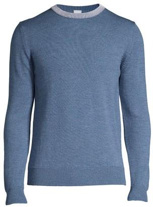 eidos Contrast Collar Crewneck Sweater