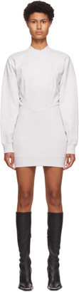 Alexander Wang Grey Sculpted Long Sleeve Mini Dress
