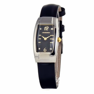 Chronotech Womens Analogue Quartz Watch with Leather Strap CT2071L-01