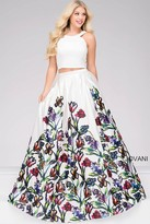 Jovani Two-Piece Floral Prom Ballgown 47042