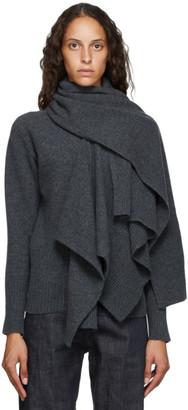 LVIR Grey Wool Muffler Turtleneck