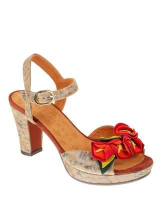Chie Mihara Ekune Floral Goat Leather Sandals