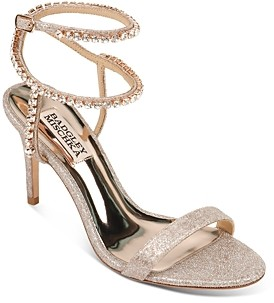 Badgley Mischka Women's Claudette Crystal-Embellished Strappy High-Heel Sandals