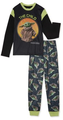 Star Wars Yoda Boys Exclusive Long Sleeve 2-Piece Pajama Set Sizes 4-12