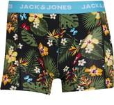 Jack and Jones Mens Summer Flower Trunk Boxers Bonnie Blue