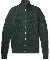 S.N.S. Herning Stark Textured-knit Wool Cardigan - Green