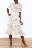 re:named Off White Floral Dress