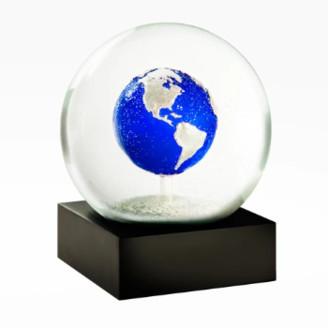 Cool Snow Globe - Big Blue Marble Snow Globe