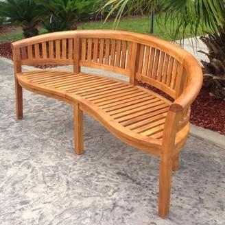 """Bay Isle Home Meyer Teak Garden Bench Size: 34"""" H x 74"""" W x 31"""" D"""