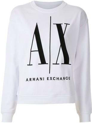 Armani Exchange Logo-Print Sweatshirt