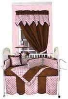 Hoohobbers Dots Pink 4 Piece Crib Bedding Set