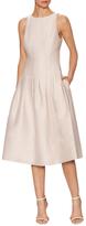 Halston Seamed Pleat Skirt A-Line Dress