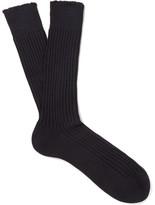 Tom Ford Ribbed Cotton Socks - Navy