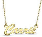 Zales Script Name Necklace in Sterling Silver with 18K Gold Plate (12 Characters)