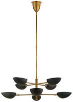 AERIN Graphic Large Two-Tier Chandelier - Brass/Black