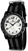 Seapro SP5210NBK Women's Bold Black & Gray Nylon Watch