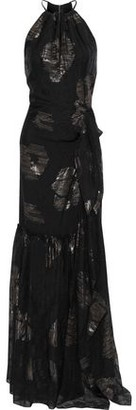 Roland Mouret Hogan Metallic Silk-blend Fil Coupe Gown